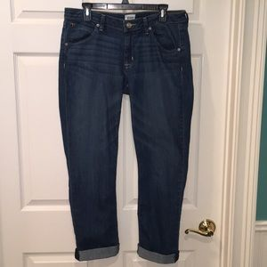 Hudson 32 Bacara Cropped Straight Cuff jeans